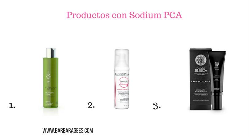 productos con sodium pca