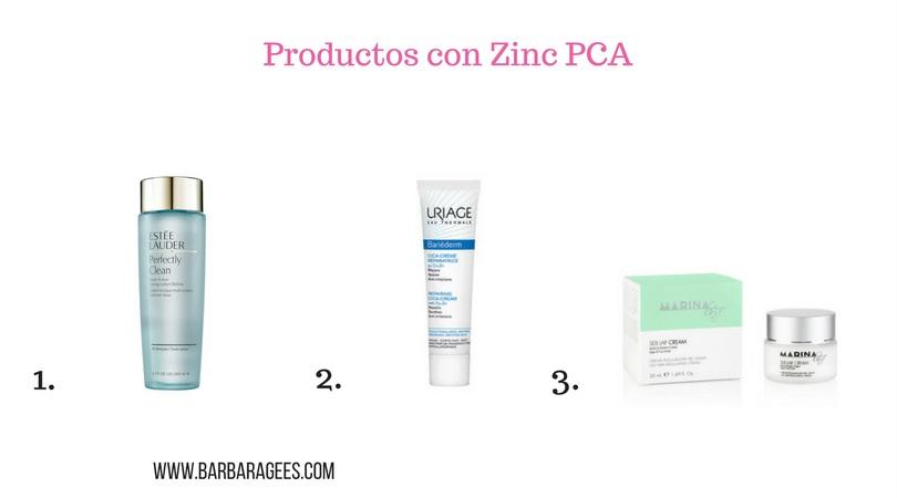 productos con zinc pca